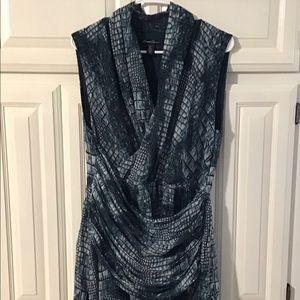 Kenneth Cole: Reptile Print, Faux Wrap Dress